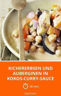 Kichererbsen und Auberginen in Kokos-Curry-Sauce - smarter - Zeit: 30 Min.   eatsmarter.de