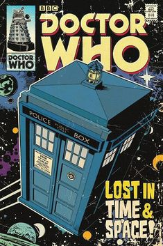 Doctor Who TARDIS Comic Book Cover Poster