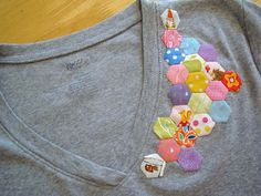 DIY hexagon quilt T-shirt