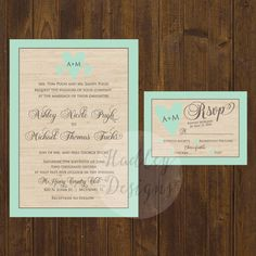 Rustic Wedding Invitation Western wedding by HadleyCustomDesigns