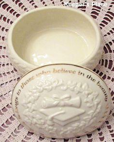 San Francisco Music Company Box Graduation Keepsake Trinket Jewelry Porcelain