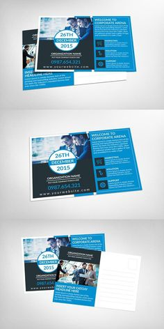Check Out Corporate Postcard Template By Corporate Flyers Postcard - Postcard advertising template