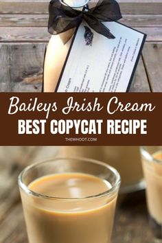How To Make Best Copycat Baileys Irish Cream Recipe   The WHOot Homemade Baileys, Homemade Irish Cream, Baileys Recipes, Homemade Liquor, Homemade Gifts, Diy Gifts, Irish Cream Liquor, Baileys Irish Cream, Hot Tea Recipes
