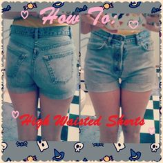 DIY high waisted shorts tutorial from $3 thrifted mom jeans ...
