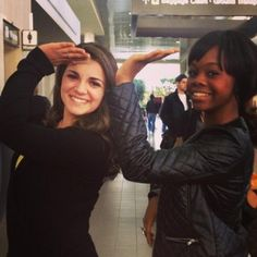 Gabby Douglas gives the DG salute. We think it's a 10!