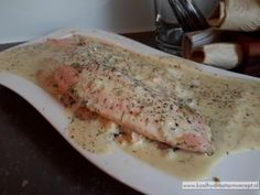 zalm in dille roomsaus Fish And Seafood, Seafood Recipes, Salmon, Pork, Low Carb, Meat, Cooking, December, Pork Roulade