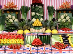 The U.K. has plenty of fresh produce available, such as these vegetables on display at a garden show in Southport, England. But these health...