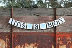 Baby Shower Banner Its A Boy baby shower by HandmadePartyDeco