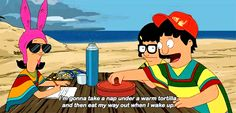 """When he knew how to make naps even better.   22 Times Gene Belcher Was The True Star Of """"Bob's Burgers"""""""