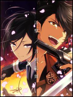 埋め込み Manga Art, Manga Anime, Anime Art, Mutsunokami Yoshiyuki, Manga Couple, Bishounen, Kawaii Girl, Touken Ranbu, Anime Love