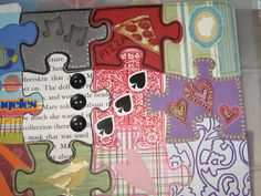 My first altered puzzle! - PAPER CRAFTS, SCRAPBOOKING & ATCs (ARTIST TRADING CARDS)