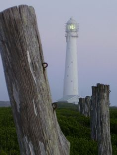 Slangkop Lighthouse is a lighthouse near the town of Kommetjie, near Cape Town, South Africa. Construction was due to be completed in 1914 and a brass sign was commissioned for this date, but due to the First World War the lighthouse wasn't completed until 1919. Wikipedia