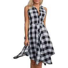Handkerchief Tartan Shirt Dress (€15) ❤ liked on Polyvore featuring dresses, long plaid shirt dress, tartan dress, plaid dresses, plaid shirt dress and t-shirt dresses