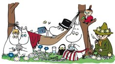 Moomins in the summer