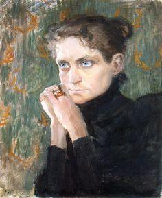 bofransson:  Portrait of the Actress Ida Aalberg, Akseli Gallen-Kallela - 1893