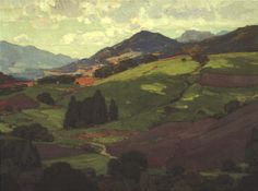 "Fleischer Museum - American and Russian Impressionism. William Wendt, ""I Lifted Mine Eyes""."