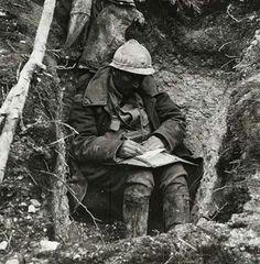 French soldier. Battle of Verdun, 1916