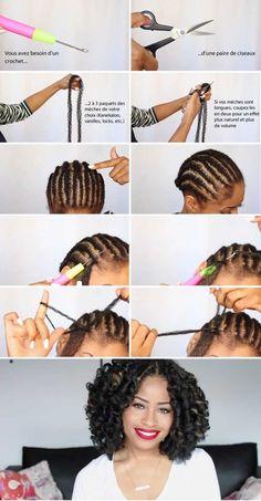 Curly Crochet Hair Styles, Crochet Braid Styles, Curly Hair Styles, Natural Hair Styles, Box Braids Hairstyles, Twist Hairstyles, Wedding Hairstyles, Crochet Braid Pattern, Braid Patterns