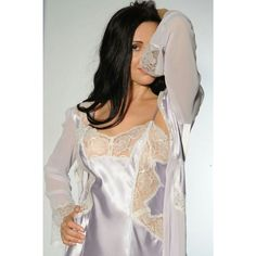 c238d11d6d5d Shop for this luxury negligee, in silk satin, chiffon and French lace.  Choice of rich dark colours and soft pastel shades plus black or ivory lace.