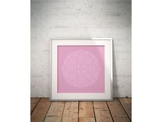 Poster Pink mandala
