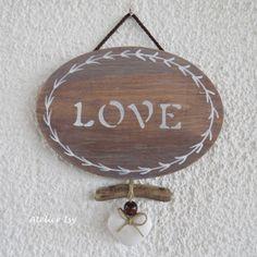 Door sign Love - plaque de porte Love