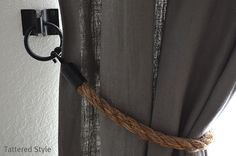 Tattered Style: Rope Tiebacks ~ DIY
