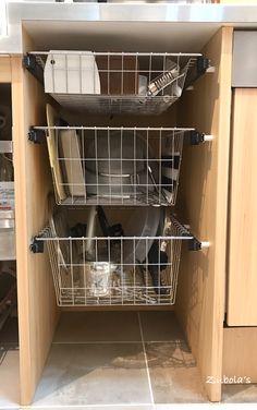 キッチンの引出しは、ステンレス ワイヤーバスケット | 築200年の古民家を買って理想を追う面倒くさがり屋の日記