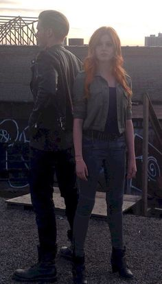 Behind the scenes #Clace! Our new Clary Fray and Jace Wayland/Lightwood.