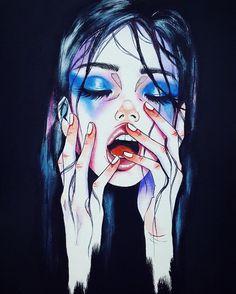 Kai Fine Art is an art website, shows painting and illustration works all over the world. Wow Art, Art Plastique, Erotic Art, Dark Art, Art Inspo, Art Girl, Painting & Drawing, Love Painting, Art Reference