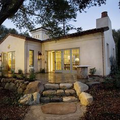 Mediterranean Exterior Rustic Small Stone Cottages Design, Pictures, Remodel, Decor and Ideas - page 3
