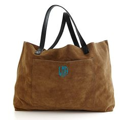 Mark & Graham personalized suede tote