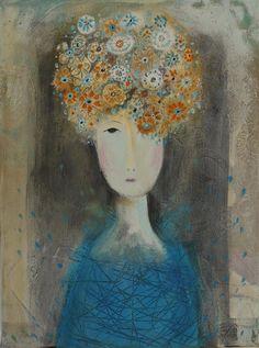 Flower Head Girl - Shirley Vauvelle
