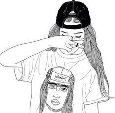 Resultado de imagen para dibujos de chicas de espaldas