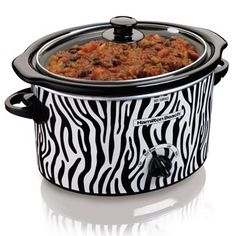 3 Quart Slow Cooker (33238)....Or if Zebra is more your kitchen style