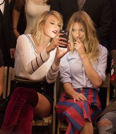 Taylor Swift and Martha Hunt at friend Gigi Hadid's collaboration with Tommy…