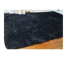 Black dorm room plush rug, dorm room rug, black room accessories