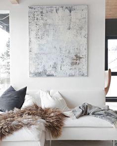 Gorgeous space ☁️☁️Via @stylizimoblog | #white #clean #interiors