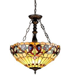 Chloe Lighting CH33353VR18-UH3 Serenity Tiffany-Style Victorian 3-Light Inverted Ceiling Pendant with 18-Inch Shade Chloe Lighting http://www.amazon.com/dp/B00G019J82/ref=cm_sw_r_pi_dp_xtN7tb0C6272S
