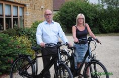 Mr & Mrs Fowler taking delivery of their Raleigh Centros and Motus Grand Tour Have a great time out together Electric Bicycle, Grand Tour, Suits You, Baby Strollers, Cycling, Delivery, Tours, Bike, Somerset