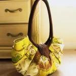 Large yellow floral canvas ..