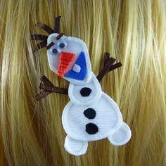 New Frozen's Olaf Disney Princess Inspired Ribbon by KutieKlipz