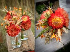 Fall Wedding Bridesmaid Bouquets