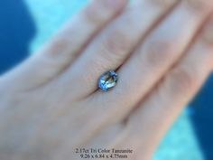 2.17ct Tri Color Tanzanite available for your custom jewelry design by AleaMariCo on Etsy