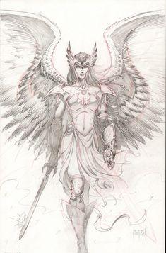 Hawkgirl - Angel by on DeviantArt-Hawkgirl – Angel by on DeviantArt deviantart+worrior+angel+images Warrior Tattoos, Sketches, Character Art, Art Drawings, Fantasy Art, Angel Drawing, Hawkgirl, Valkyrie Tattoo, Art Sketches