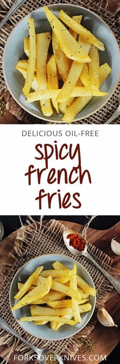 Plain baked fries are certainly tasty enough, but once in a while it's nice to spice it up, as we do here. From The Forks Over Knives Plan Instructions: 1. Preheat the oven to 350°F. 2. In a small bowl,...  Read more
