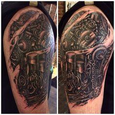 #mechanicaltattoo #clevelandtattoo #voodoomonkeyCLE #dougkulbis #follow #tatuagem #tatuagens