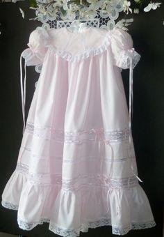 Custom Made Heirloom Girls Dress and Slip by justforbabyonetsy, $250.00