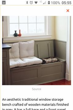Bench Seat Against Window.Interior Design Inspiration Photos By Kapito Muller Interior . Kammy's Korner: One Of A Kind Window Seats From A Planked . Bay Window Seat In Kitchen Window Seat Kitchen Bay . Home and Family Interior Design Diy, Built In Bench, Family Room, Home, House Flooring, Window Benches, Bench With Storage, Bench, Interior Design