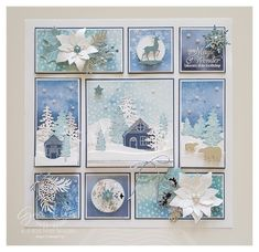 Patchwork Cards, 3d Paper Crafts, Paper Crafting, Collage Frames, Collage Ideas, Stampin Up Christmas, Christmas Paper, Christmas 2017, Xmas