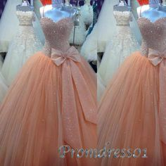 Straps prom dress, organza wedding gown, cute dress for teens -> http://www.promdress01.com/#!product/prd1/4247472625/princess-orange-sequins-sleeveless-long-ball-gown